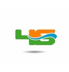 46 anniversary wave logo blue vector