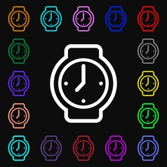 Watches icon sign lots of colorful symbols for vector