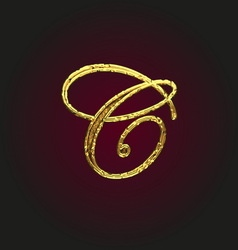 C golden letter vector