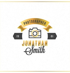 Photography logo design template photography retro vector