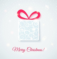 Festive card with gift box vector