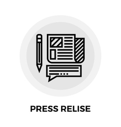 Press release line icon vector