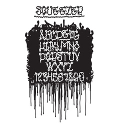 Graffiti squeezer font vector