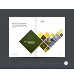 Design for cover annual report brochure or vector