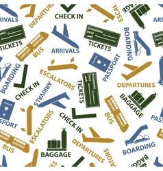 Airport signs seamless color pattern eps10 vector