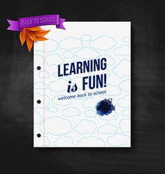 Back to school card Wooden background typography vector image