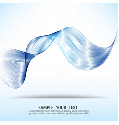 blue wave abstract design elementtransparent vector image vector image