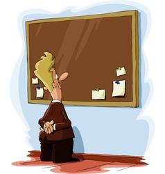 Bulletin board vector