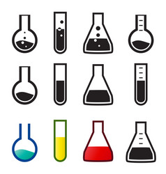 chemical and lab icons vector image