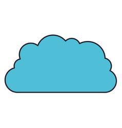 cloud storage data service icon colorful vector image