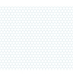 Cyan hexagon grid seamless pattern vector image vector image