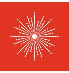 Firework icon holiday symbol flat vector