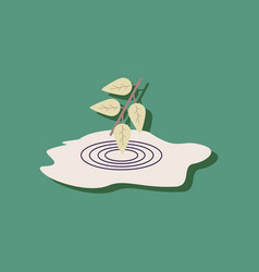 Flat icon design collection bush and puddle in vector