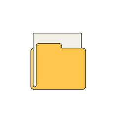 folder flat vector image vector image