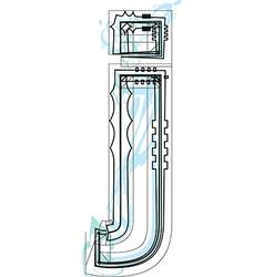 Font letter j vector