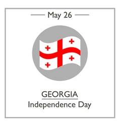 Georgia Independence Day vector image vector image