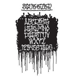 Graffiti squeezer font vector