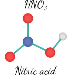 Hno3 nitric acid molecule vector