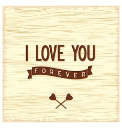 Love quote poster flat design vector image vector image