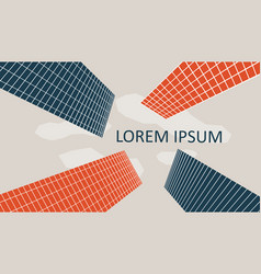 minimalistic cityscape banner vector image