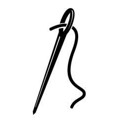 Needle icon vector