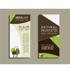 Organic brochure template vector