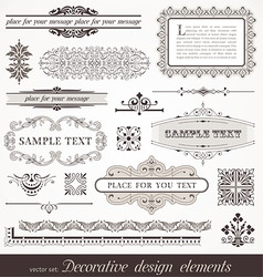 Page decor elements vector