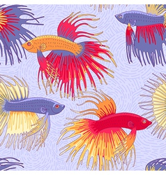 pattern betta fish vector image vector image