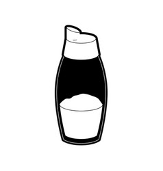 pepper container icon black silhouette vector image vector image