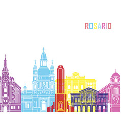 Rosario skyline pop vector