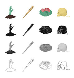 Rotten apocalypse organs and other web icon in vector