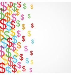 Seamless pattern background of dollar symbols vector