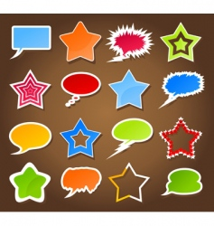 star and cloud icons vector image vector image