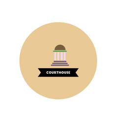 Stylish icon in color circle building courthouse vector