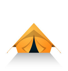 Tent cartoon on the white white background vector