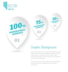 Three icons with text for infographic white vector image
