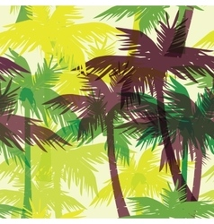 Tropical summer seamless print with palm vector