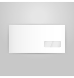 White Closed Envelope Template vector image vector image