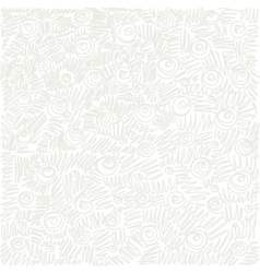 white Seamless abstract hand-drawn waves swirl vector image