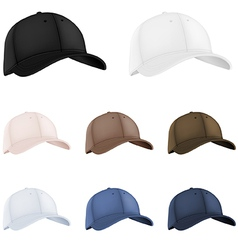 Baseball hats template vector