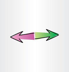 Left and right arrows design element vector