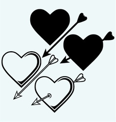 The symbol of the heart with an arrow vector
