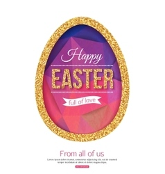 Happy easter background easter egg vector
