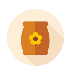 Bag sack flower seed flat icon vector