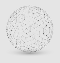 abstract grayscale mesh sphere vector image vector image
