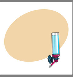 automatic refillable drinker can be attached to vector image vector image