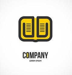 book logo design vector image vector image
