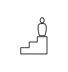 businessman on career stairs vector image