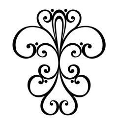Deco symmetrical element vector