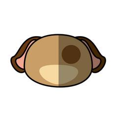 Dog pet faceless cartoon vector